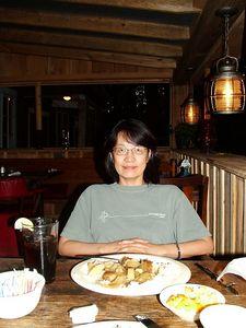 Izumi at dinner