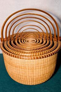 Nine nested baskets
