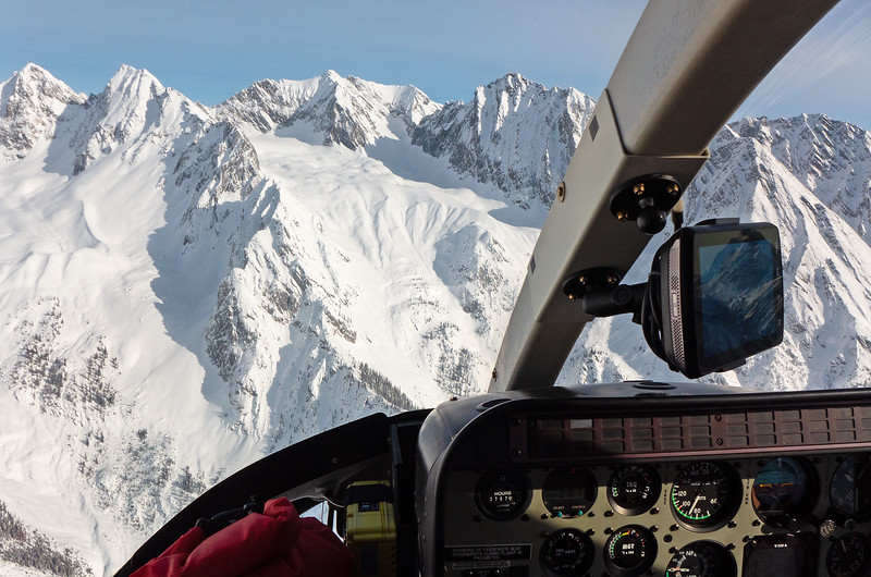 A perfect day to take the high route, for the flight in on February 13.