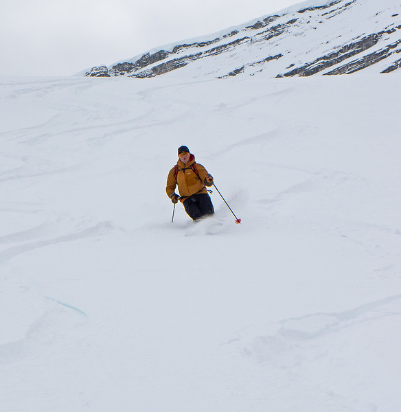 Skiing the Camel Humps.