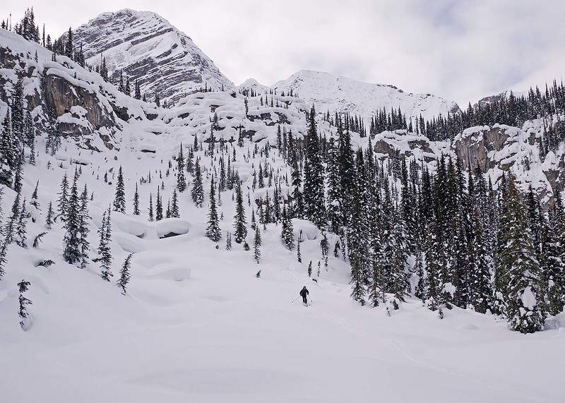 Clearing skies for morning 4, as we dropped down the Bluewater Creek drainage.