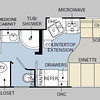 floorplan EXCEPT the Bedroom pop-out is on the other (DL) side
