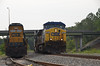 4310 – CSX westbound freight passing the SD50 (?).