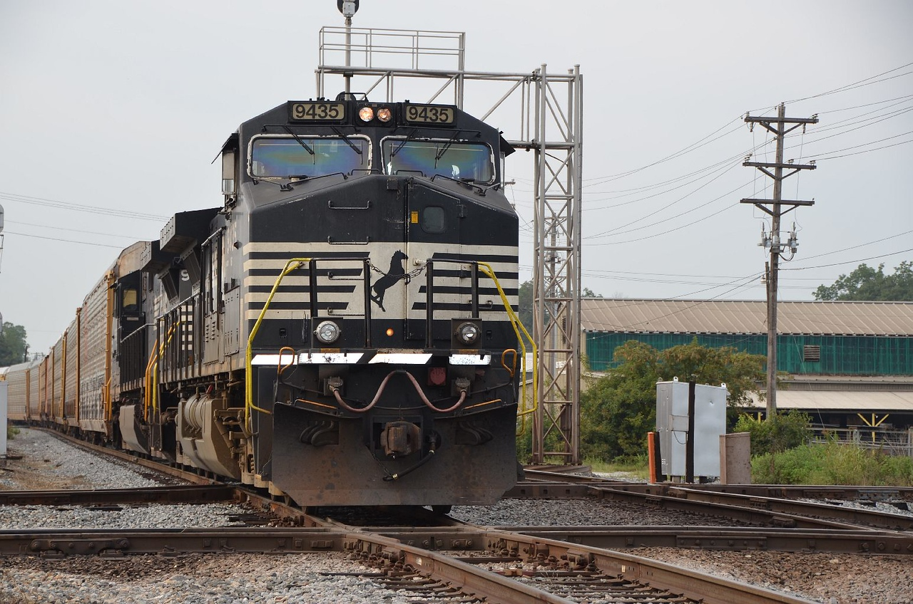 4259 – Northbound Norfolk Southern freight crossing, first the HOG mainline, then the CSX mainline.