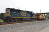 4307 – A CSX SD50 (?) that may be stored there to help protect the schedule, if any other engines fail. Don't know why the caboose with boarded up windows was there.