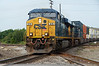 4295 – CSX eastbound freight. Crossing the Norfolk Southern north-south main, and all that sloppy up-and-down track!