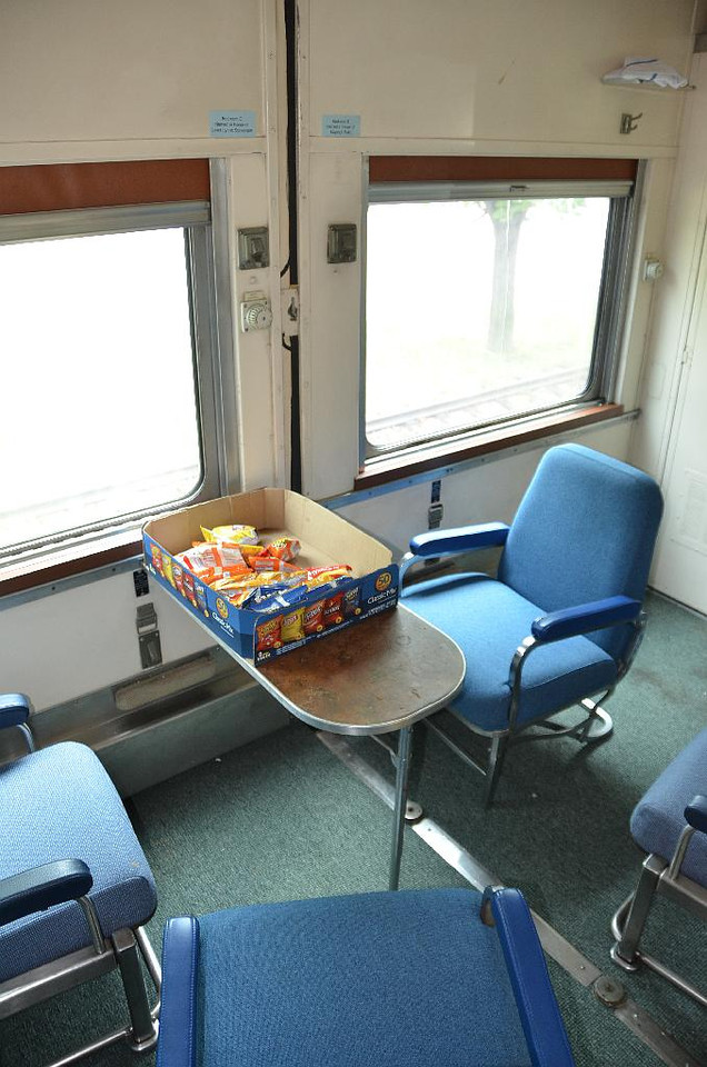 """6103 & 6105: The interior of a """"Double Twin"""" room aboard the Ex-Nickel Plate #211 during our private tour of the cars."""