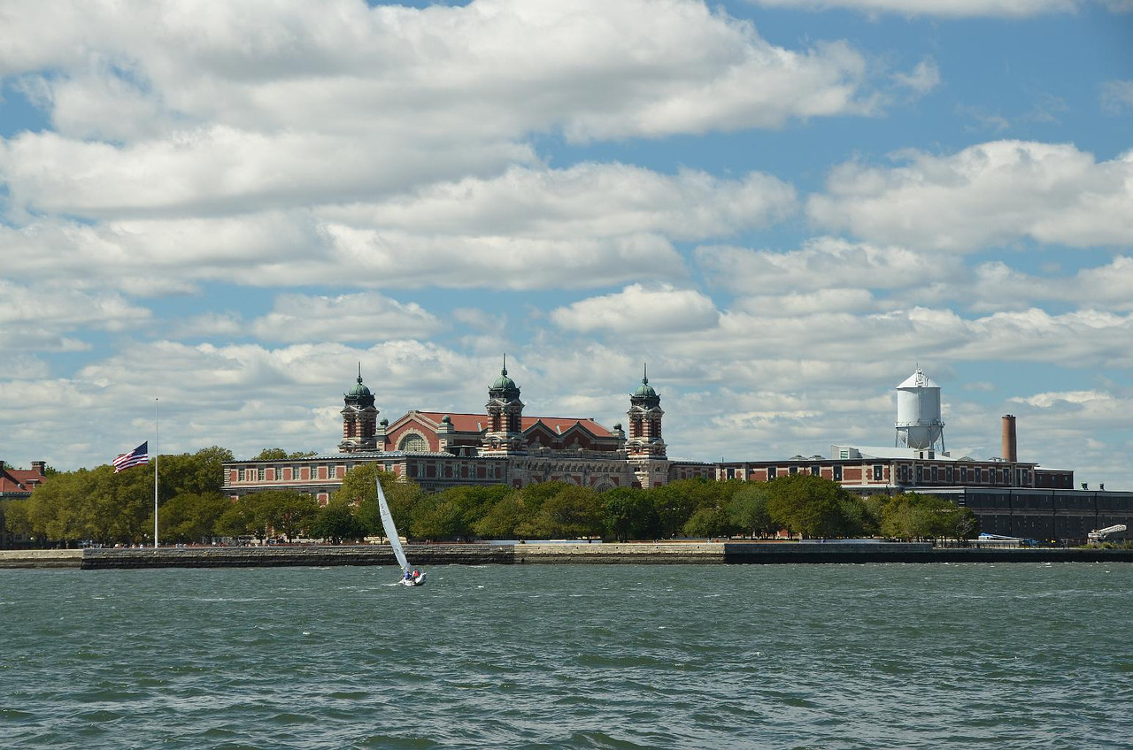 Ellis Island. All immigrants were carefully screened before they were allowed to go to the 'mainland'. My dad's folks came through this place.