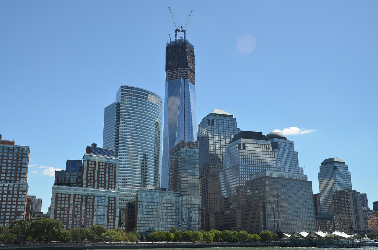 Freedom tower, rising from the ashes....