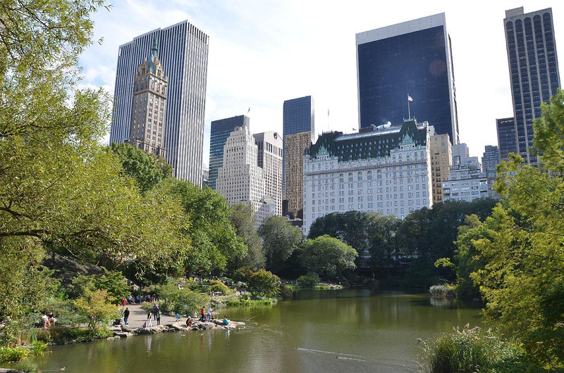 Famous postcard view of the skyline from Central Park.