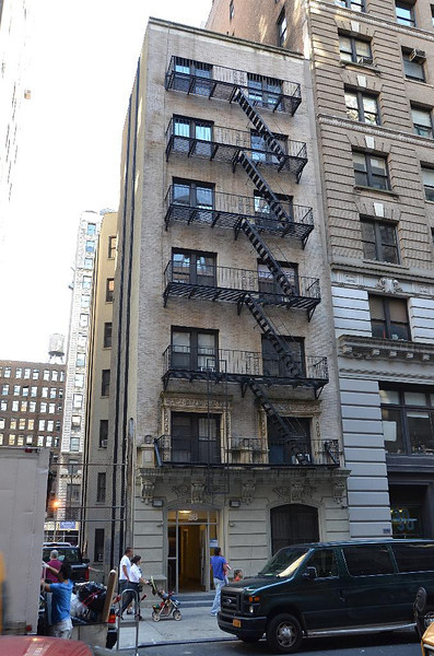 My first apartment was in this building. If you look carfully, you can see that  it leans to the left. The Elevator made a slight turn between the 3rd and 4th floors.