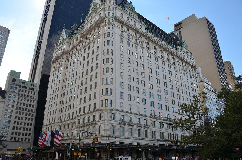 The Plaza Hotel. Corner of  59th Street and Central Park.