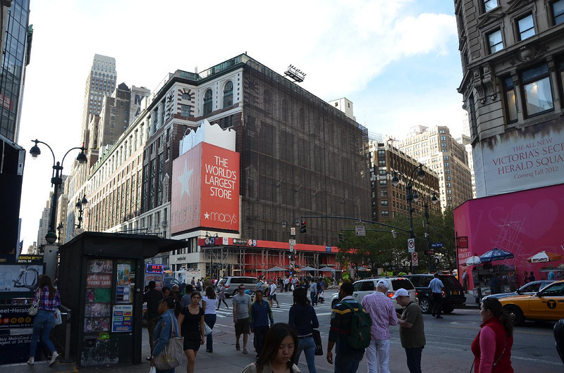Macy's / Herald Square. This is where the Thanksgiving Day parade terminates.