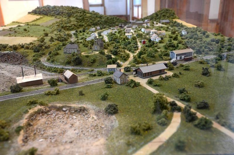 Small model diorama of the Copake Falls area.