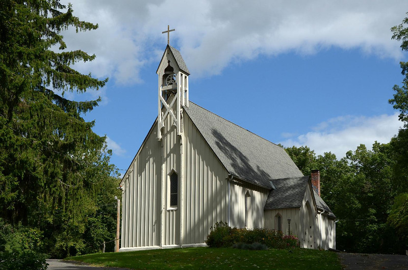 St. John in the Wilderness, built 1852. Name is appropriate. Don't remember visiting this church, on the edge of the campground before. It was only recently rebuilt, maybe this is why we never looked at it closely in 1964.