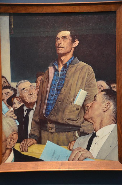 FDR's four freedoms. Freedom of speech.