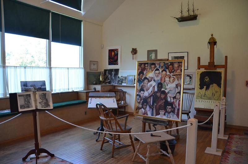 Rockwell's studio.