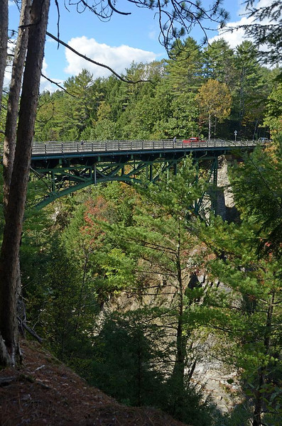 This is the Quechee Gorge bridge. Celebrated it's 100th birthday last year. Looks pretty good for it's age.