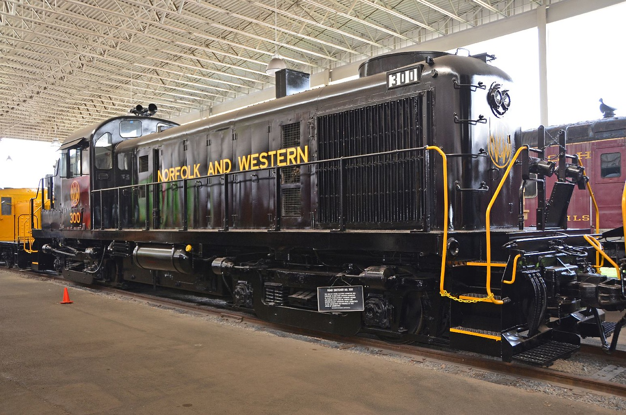 "Shoulda took this snap with Gail in front of it, beaming! It's an ALCO RS-3, her favorite diesel locomotive (although she would rather have it painted green with ""West Virginia Northern"" lettering!"