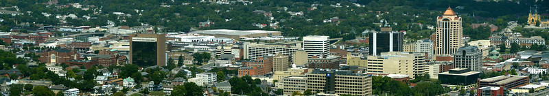 4794 – This  panorama shows the area of Roanoke where the museum is. It was pretty hazy, but Photoshop allowed me clean it up. Amazing.
