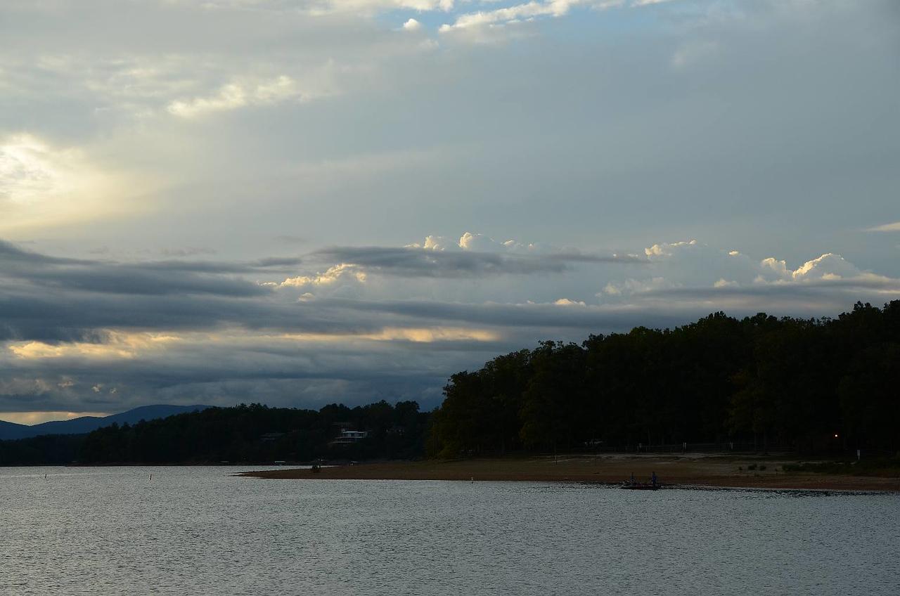 3629 - Morganton almost sunset. Pretty clouds.