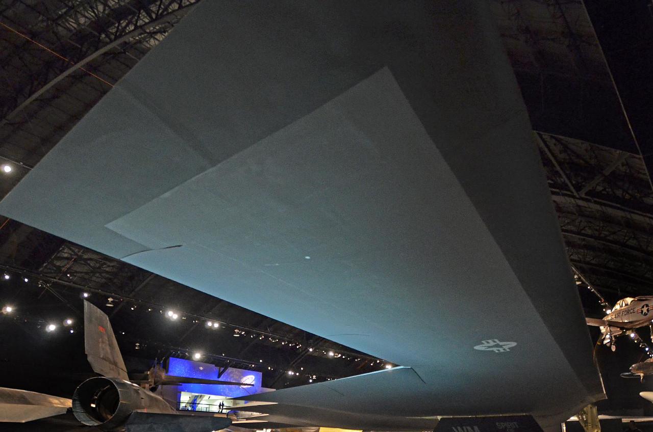 4078 - B-2 Bomber. Eerie bat-wing airplane.