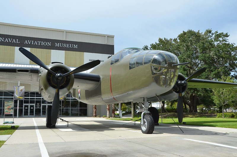 "B-25 ""Mitchell"" bomber. The kind that Billy Mitchell bombed Japan with early in WWII."