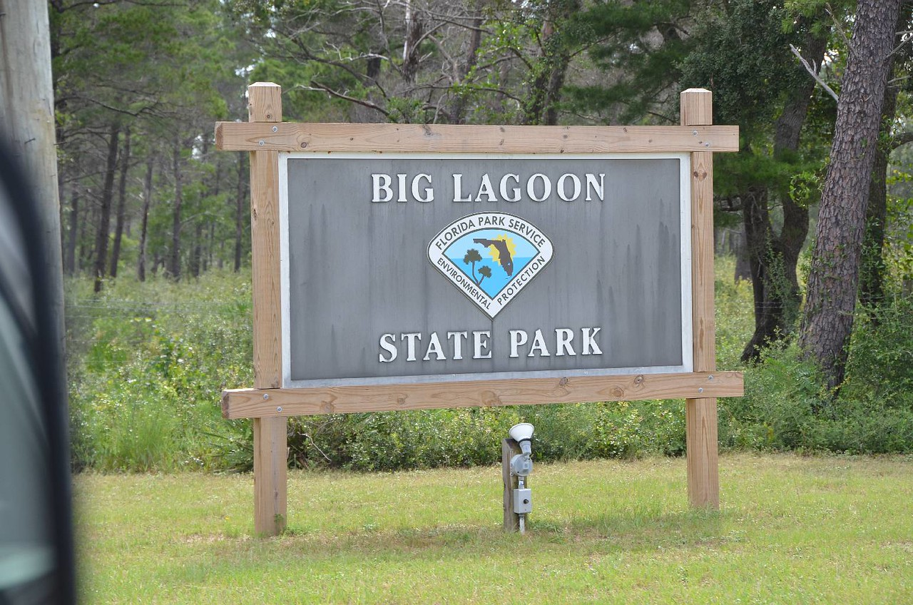 """Record #445 DATE: 8/31/2017 DAY: Thu ST: FL NAME: Big Lagoon SP LOCATION: Pensacola SITE #: 29 COST: $11.15 elec, water, dump, showers LEFT: 9:30am ARRIVED: 3pm ROUTE: FL271, I10, I110, US98, FL173, FL292, FL293  So, to continue with our first day on the road adventures, besides the brake failure and waiting for the repair, we had to turn off the gas fridge because the truck was jacked up. After it was turned back on, the fridge just did not get cold enough. Here we go again with the 'x!x#!xx!' fridge. It works fine on elec and battery. So, that is what we will do until we figure something else out. By the way, I am writing these log entries many days after the fact. No time to write at the end of each day. As you will read, we have been driving for most of the day for 5 days straight. By the time we arrive at a CG, we only have an hour or two to relax, eat dinner, and go to bed. Not too much fun. We are getting too old for this type of schedule. We both slept reasonably well, and were well rested to begin another long day. I am excited about a return trip to 3 Rivers with my kayak. This site 15 is right next to the water and I could launch without too much trouble by myself. Hurricane Harvey hit Texas several days ago with over 51"""" of rain. We drove through remaining bands of disturbed weather on our way to Pensacola. At Pensacola, we had lots of fun from 1:30pm-3pm as we toured the Naval Aviation Museum. We did this in 2013 also. At the CG, we could only go on a short walk after dinner because there was still a lot of standing water remaining from Hurricane Harvey."""