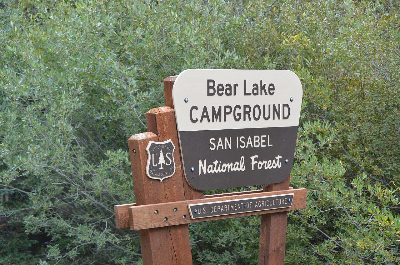 NAME: Bear Lake CG LOCATION: San Isabel NF SITE #: 9 COST: $8.50 trash LEFT: 9am ARRIVED: 3pm ROUTE: I40 exit 36 US385, US87, I25 exit 13 CO12, FR322  Gas prices have been very reasonable during this trip at $2.25-$2.59. Well today's gas prices finally were way out of line. $2.74 in Trinidad, CO. Since we are nuts on trains, we had to stop in Raton, NM to see the train station, and how many tracks are still in the yard. Station looked good and only 5 tracks of the original 10 remain. Our first mountain pass and grade was Raton Pass. When we left Trinidad on CO12, it was 40 miles to the turnoff to this CG. Along the way, we finally saw REAL mountains with still some snow spots in the distance. The 5 mile drive along FR322 was a kidney buster with washboard road. Our 10,548' altitude at this CG reminds us to take it easy moving around. Don't know how long it will take for us to not keep breathing so hard? Thank goodness our bodies are not like our drinking water bottles, soap pump dispensers, and sealed bag of pretzels are about to explode from gas expansion. None of the campsites are level. This was the first time this trip we have needed the leveling blocks. The temperature was delightful at 70 to enjoy our Crown & coffee. AMERICAN CROW, BLACK-BILLED MAGPIE, STELLER'S JAY, COLORADO CHIPMUNK, GOLDEN MANTLED SQUIRREL