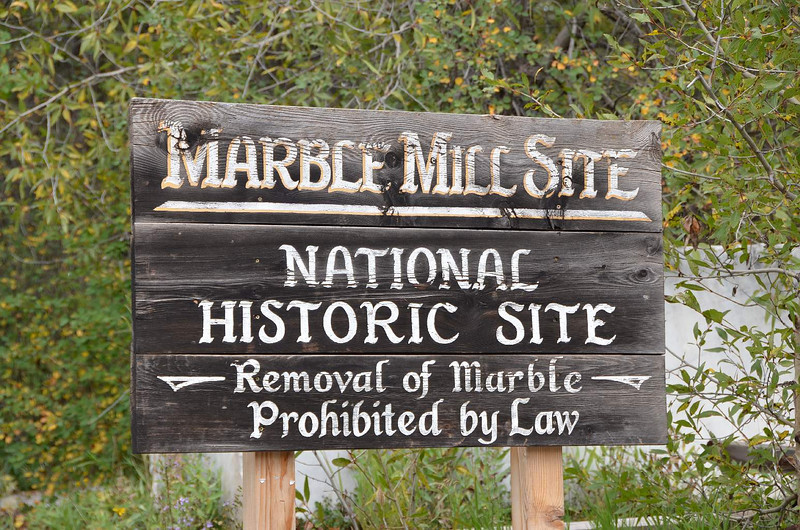 6848 - Marble, Colorado. Site  of  this historic  site where, what else? Marble was mined and milled into useful sizes and shapes. Like the Lincoln Memorial in WDC, and the Tomb of the  Unknown Soldier in Arlington, VA.