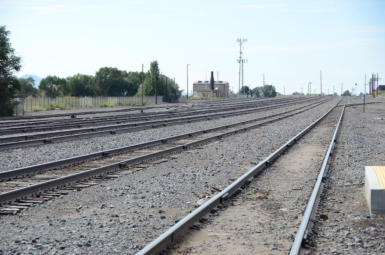 5831 - Raton, NM, is still a major division point for the railroads. Being Labor day, it looks like they took all their boxcars and engines, and went home. Very weird to see a completely empty railyard.