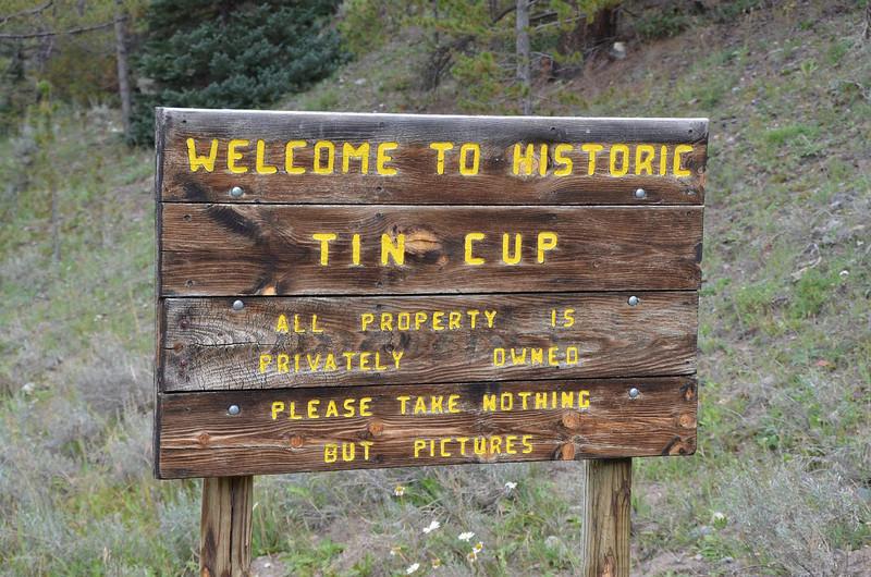6626 - Tin Cup is a tiny vestige of a town. Quaint.