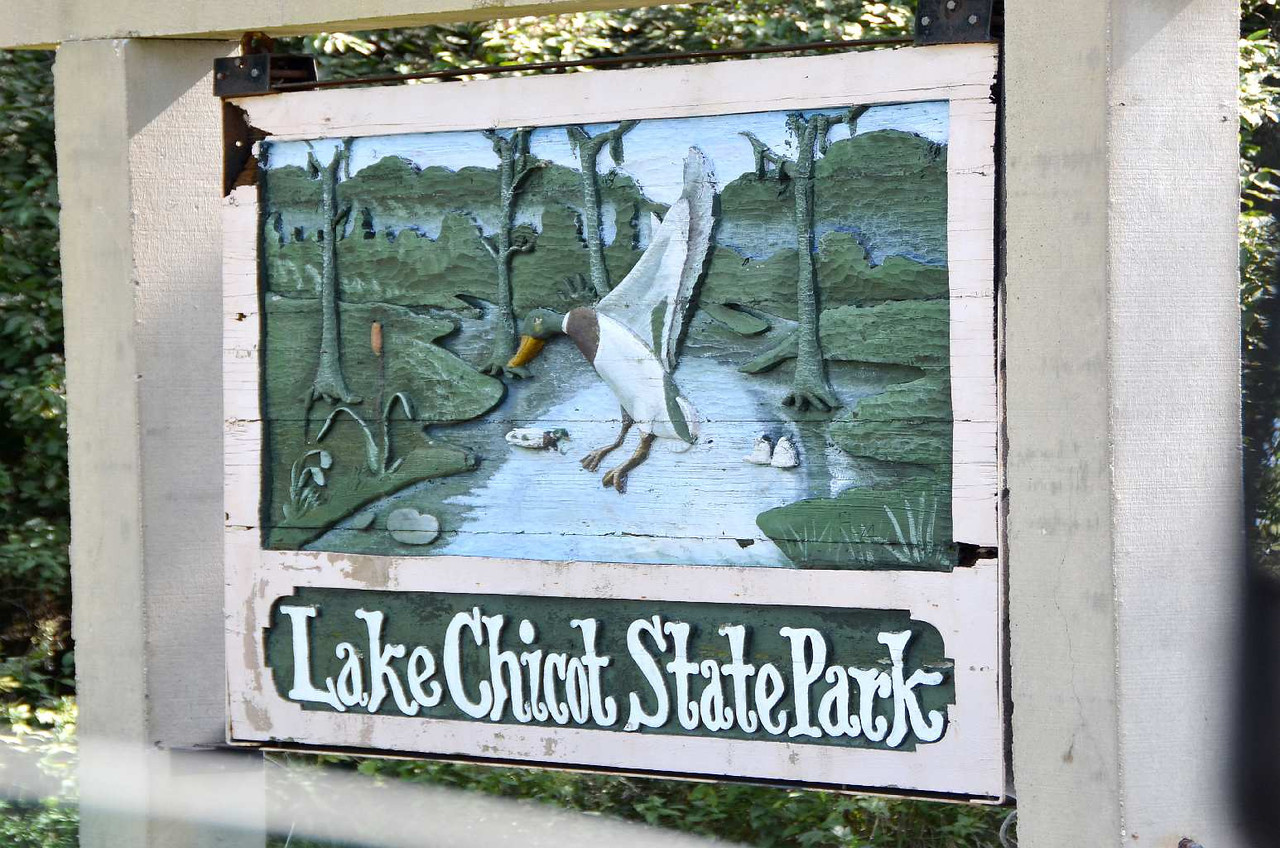 9371 - Lake Chicot State Park, Arkansas. Lake Chicot is a left-over meander of the Mississippi river that has been cut  off from direct river flow. Lots of fishing, and gators  around, the locals say. 89 feet above sea level... At last!
