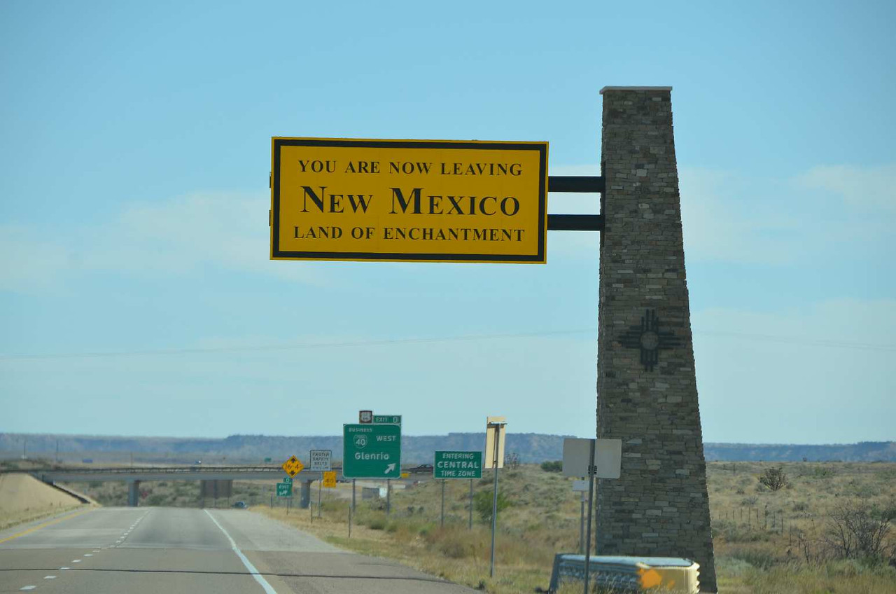 9269 - We are just leaving New Mexico. We will scoot all the way across the Texas Panhandle to stay in Oklahoma!