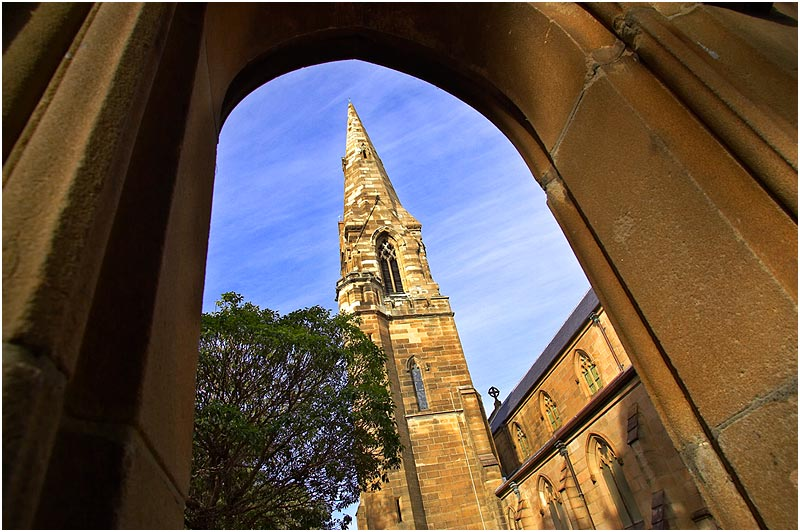 It's architect was Edmund Blacket who also designed and built St. Andrews Cathedral in the city of Sydney.