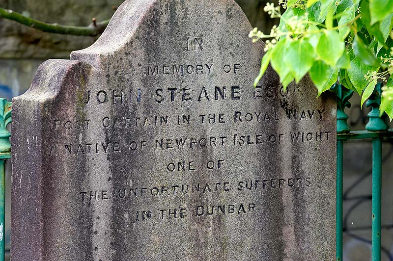 John Steane, a passenger on the Dunbar, was said to be having an affair with Hannah Watson, the wife of Captain Watson, the Harbour Master of Port Jackson. While Steane was in England, Watson heard of their affair and cursed them both. Hannah died soon after, while Steane was returning to Sydney on the ill-fated Dunbar. It is said on dark and stormy nights, the ghost of Hannah rises to meet her lover at his tomb.