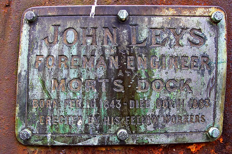 John Leys, a Balmain Shipbuilder, lies in an unusually marked grave.