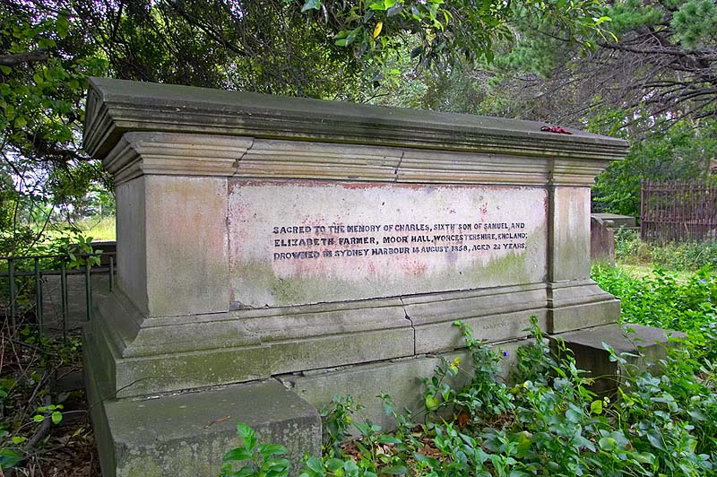 The tomb of Charles Farmer.