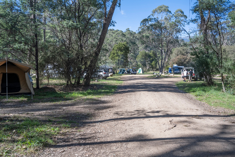 The main track into the campground