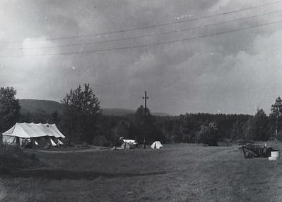 1967-IVS-leiren på jordet nedenfor Ole Bull, før Ole Bull var bygget