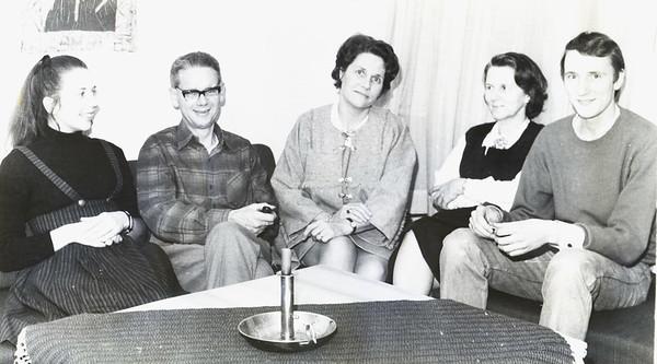1969 Birgit Engel, Ivan Jacobsen, Phyllis Jacobsen, Margit Engel, Terje Hammer