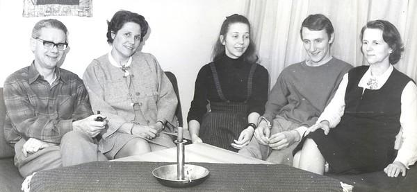 1069 Ivan og Phyllis Jacobsen, Birgit Engel, Terje Hammer, Margit Engel