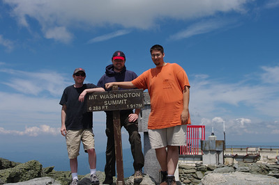 Rockstar, Pablo and Draco on Top of Mount Washington
