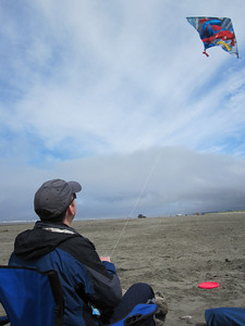 Rob has mastered the Superman kite at Ocean Shores