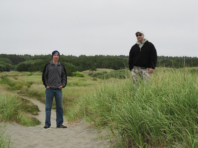 Rob and Jeremy enjoying the view on top of the dunes on the way back to the campsite
