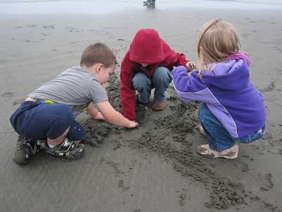 Anthony, Bryce and Alexa loved playing in the sand