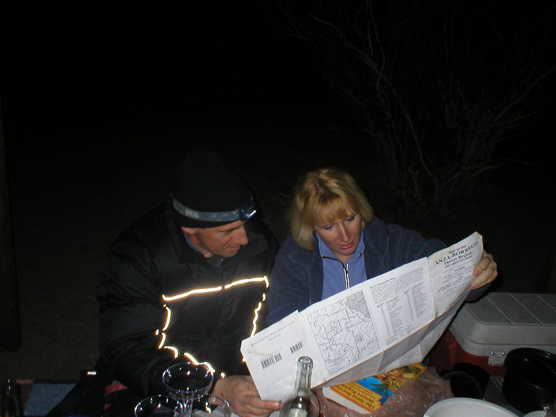 Dedicated hikers. Wingding and Mtflyer checking out the A-B map