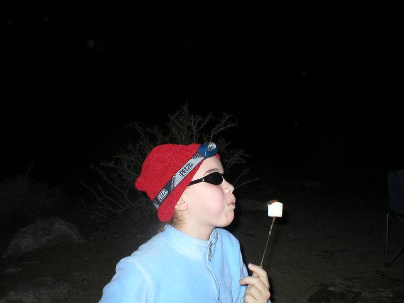 Munchkin dealing with a white-hot burning marshmallow ... a welder in training!