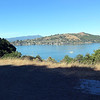 View of Raccoon Strait, Tiburon and Mount Tamalpais from the main road.