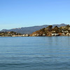 Mount Tamalpais looming behind Tiburon.